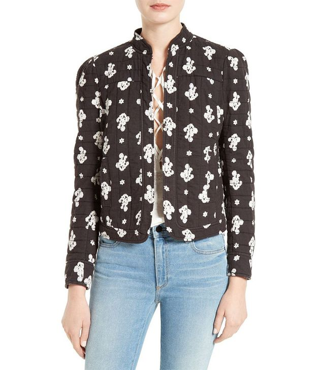La Vie Rebecca Taylor Blanche Quilted Jacket