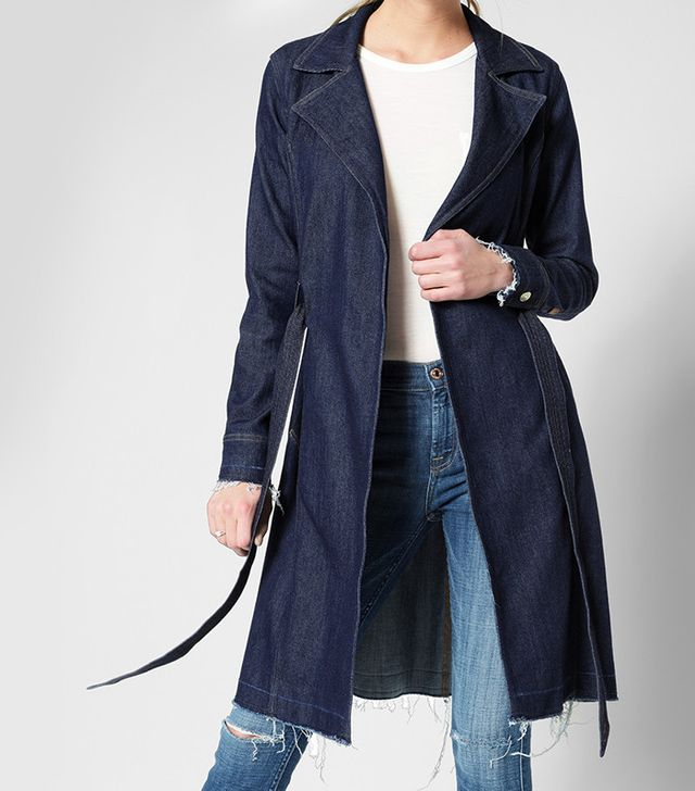7 For All Mankind Denim Trench Coat