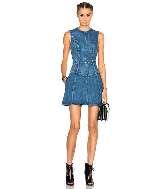 Alexander McQueen Denim Mini Dress