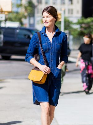 8 Cool Denim Dresses You'll Wear Through September