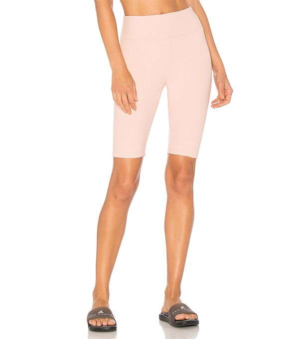 Ribbed Biker Short in Pink. - size S (also in M,XS)