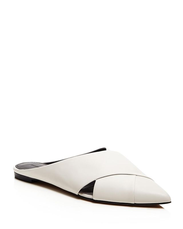 Sigerson Morrison Sheldon Crisscross Pointed Toe Mules