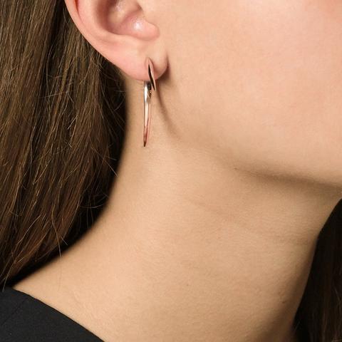 Signature Tusk Earrings, Metallic