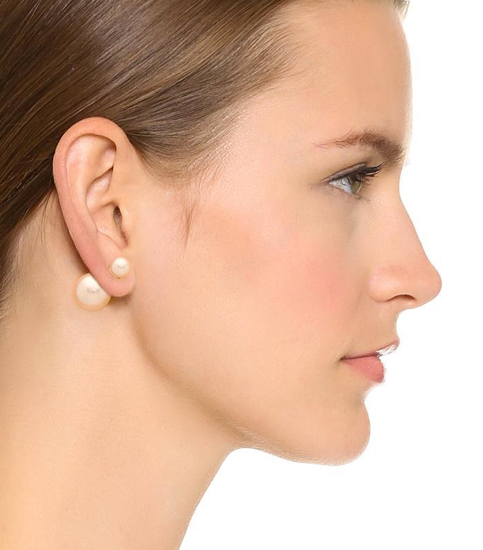Double sided classic album earrings
