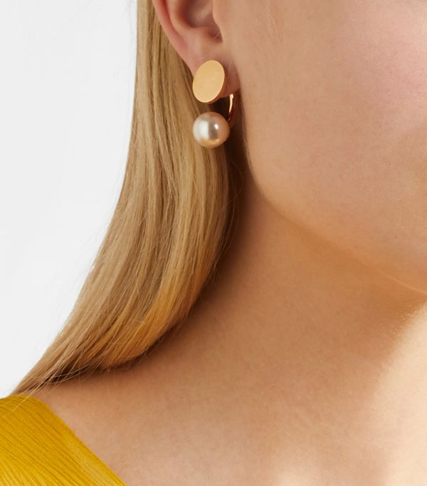 how to try the sided earring trend whowhatwear