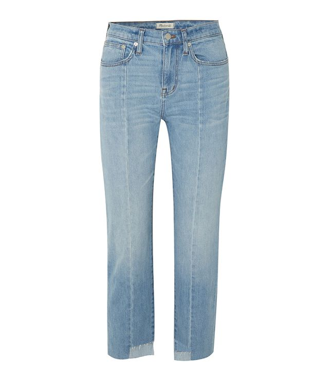 Cruiser Distressed Mid-Rise Straight-Leg Jeans