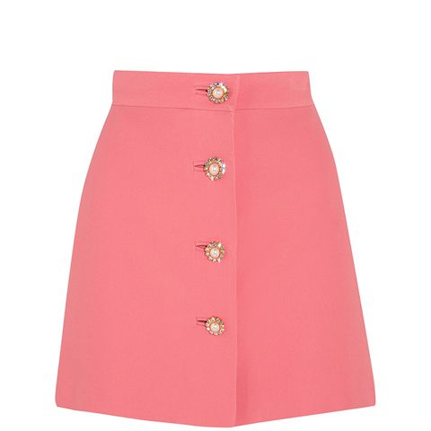 Embellished Cady Mini Skirt