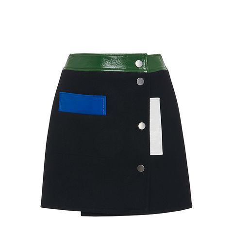 Wool Multi-Color Mini Skirt