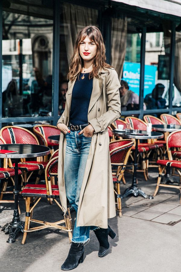 Trench coats are perfect over minimal outfits.