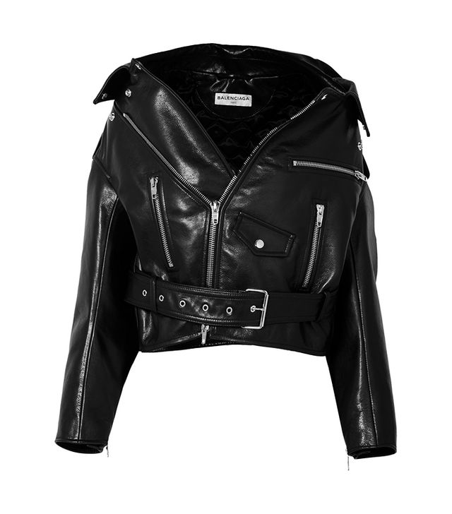 Swing Oversized Leather Biker Jacket