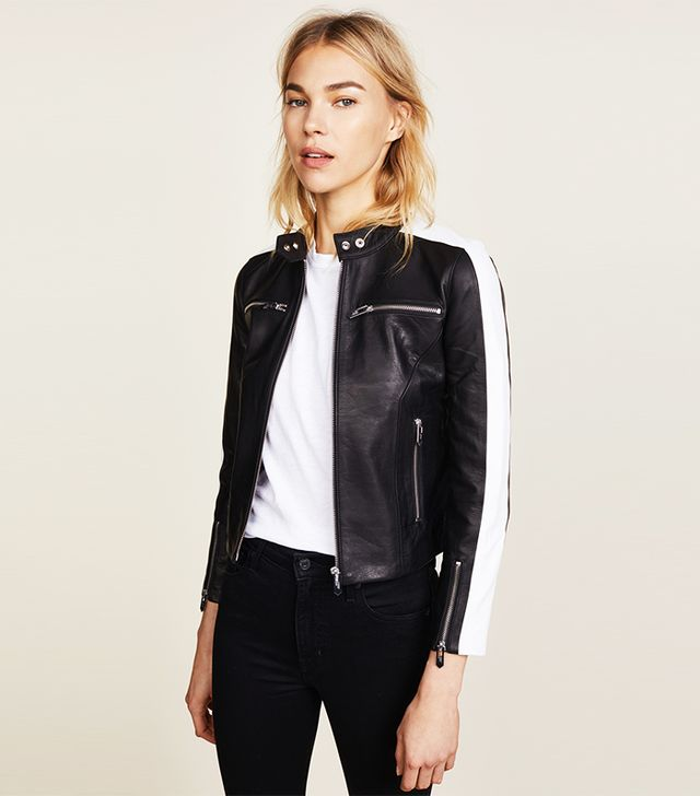 how to wear a leather jacket in the fall