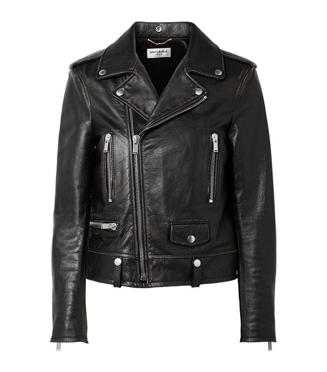 Perfecto Distressed Leather Biker Jacket