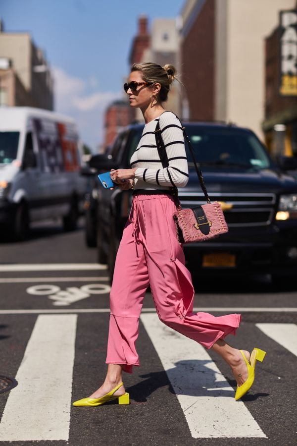 what to wear with yellow shoes street style