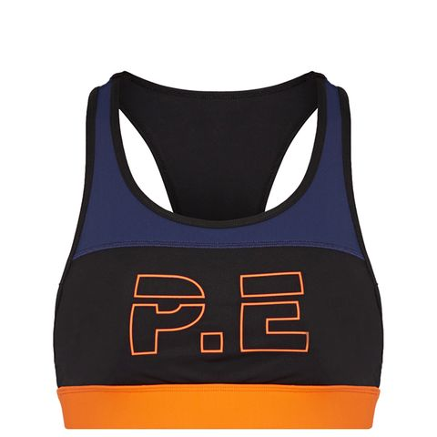 For the Count Color-Clock Printed Stretch Sports Bra