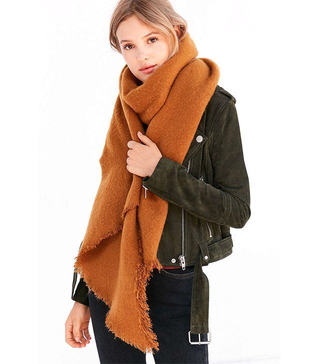 Urban Outfitters Nubby Oversized Blanket Scarf