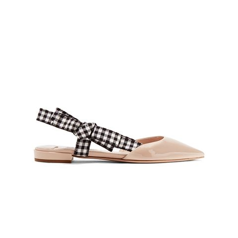 Patent-Leather Point-Toe Flats