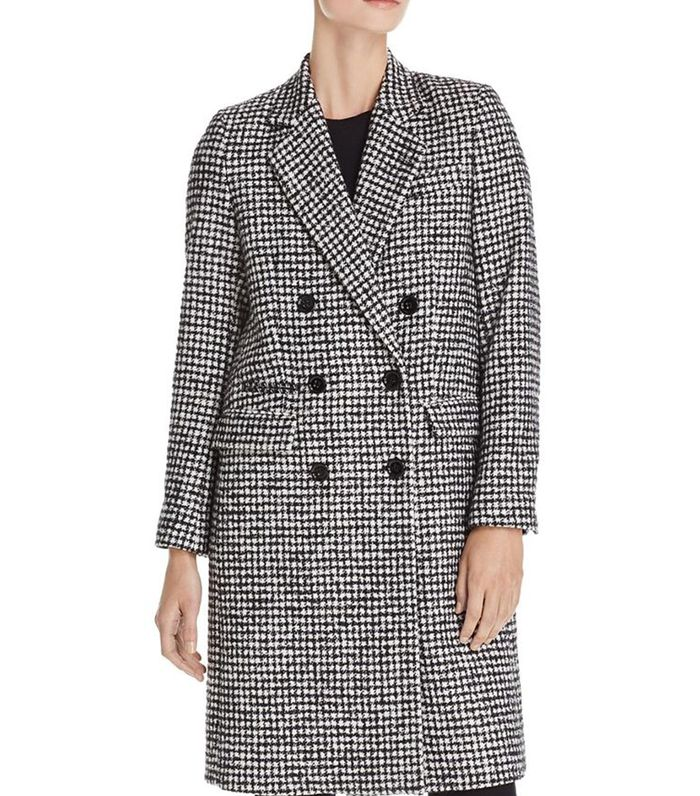 Mark Graphic Houndstooth-Style Coat