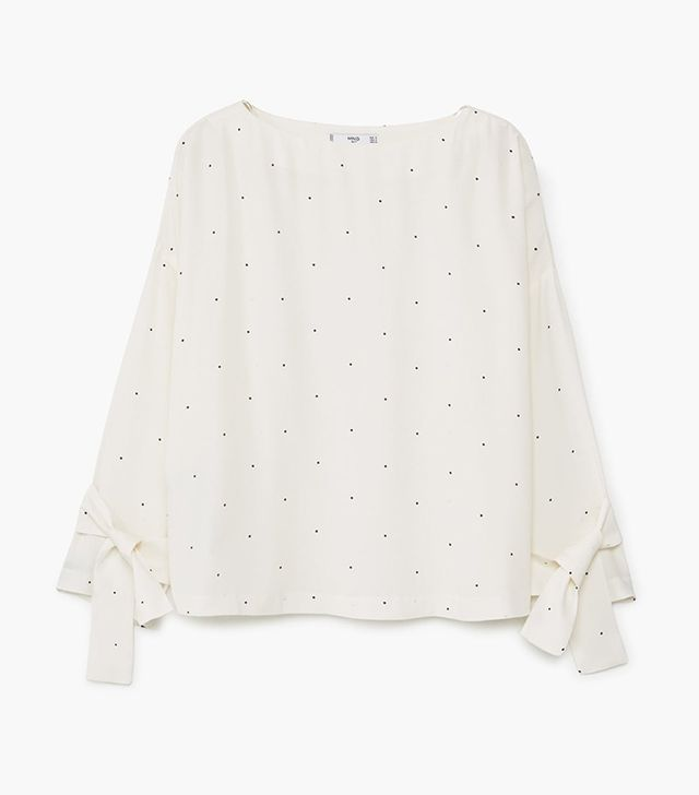 Bow Printed Blouse