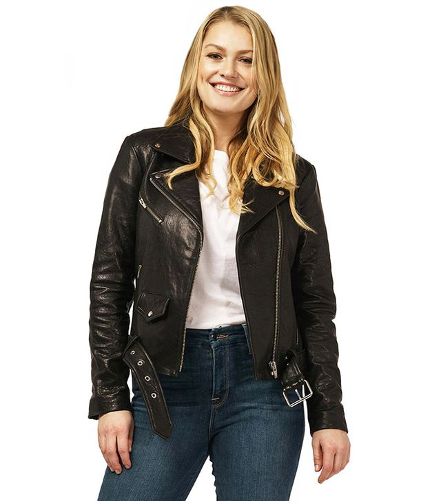 Veda Jayne Biker Leather Jacket