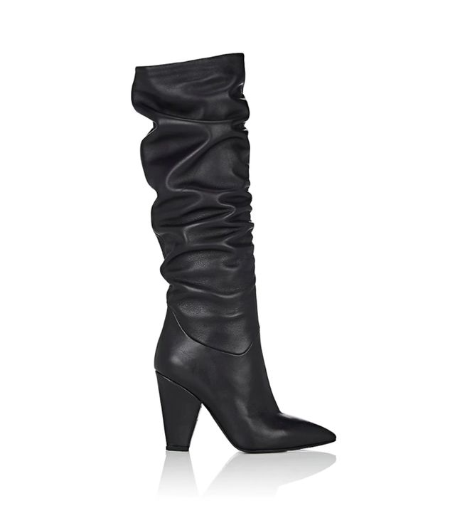 Women's Leather Slouchy Knee Boots