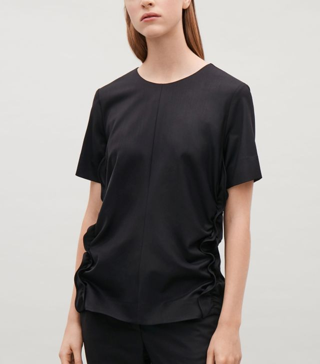COS Top With Curved Frills