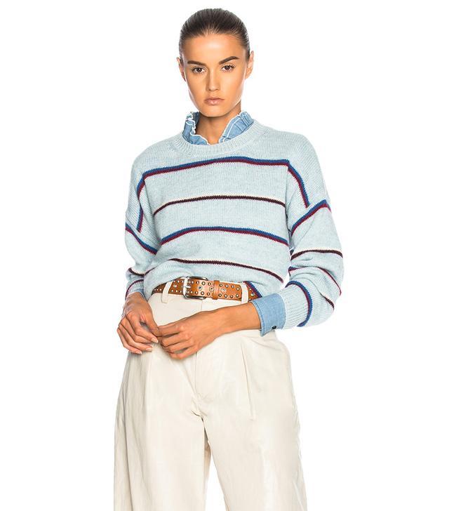 Gatlin Thin Striped Alpaca Sweater
