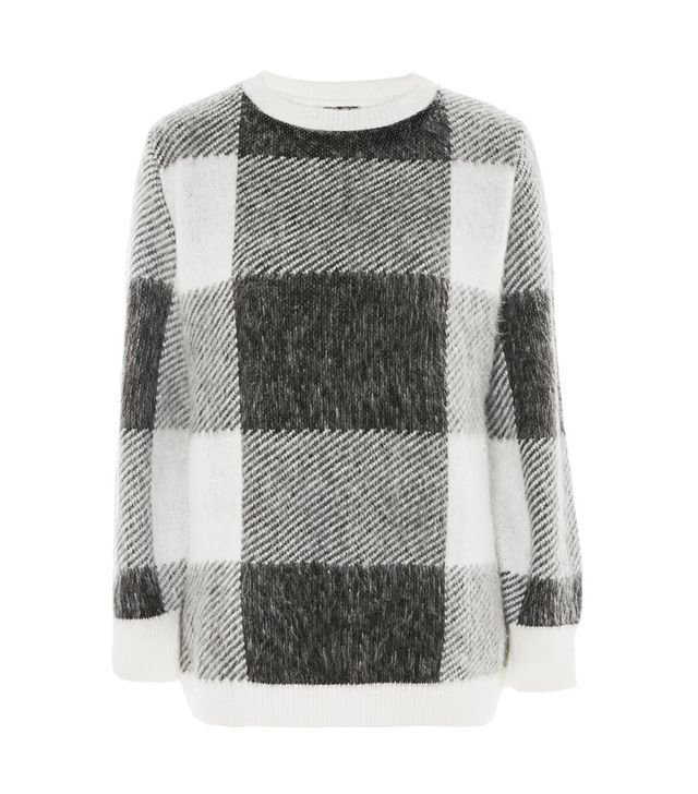 Oversized Checked Sweater