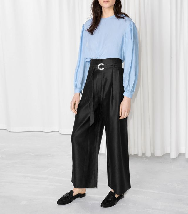 & Other Stories D-Ring Belted Culottes