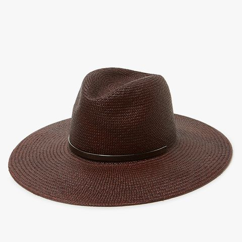 Emma Wide-Brimmed Hat in Chestnut