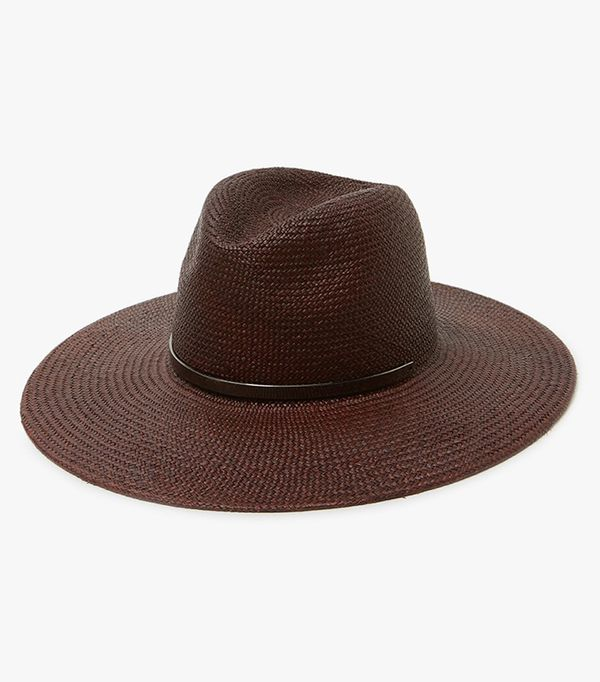 spring hats - Janessa Leone Emma Wide-Brimmed Hat in Chestnut