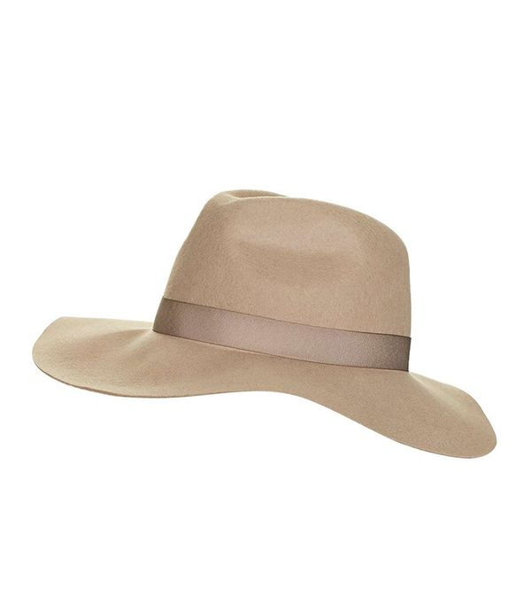 how to wear hats - Topshop Camel Fedora Hat