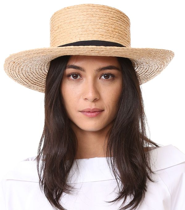 spring hats - Hat Attack Raffia Braid Boater Hat