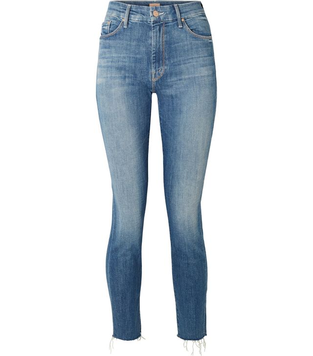 Looker Cropped Frayed High-rise Skinny Jeans