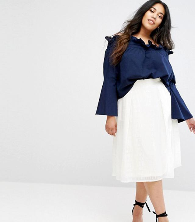 Little Mistress Sheer Layered A-Line Skirt