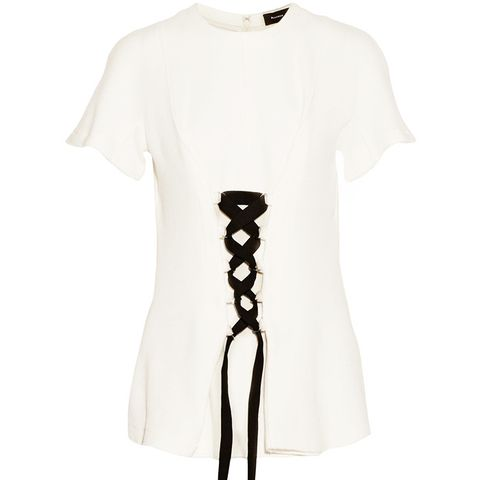 Lace-Up Stretch-Jersey Top