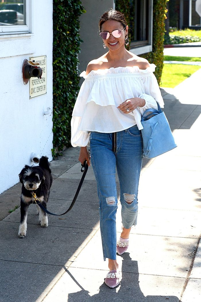 Jamie Chung Off-the-Shoulder Trend