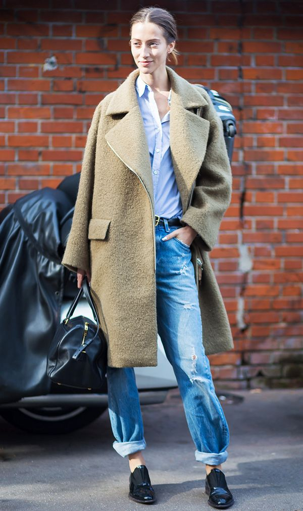 give your boyfriend jeans the model-off-duty treatment