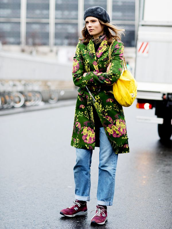 Mix things up with bright florals.