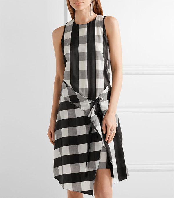 Brighton Layered Gingham Poplin Dress