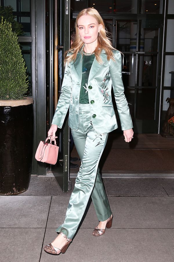 kate bosworth green suit