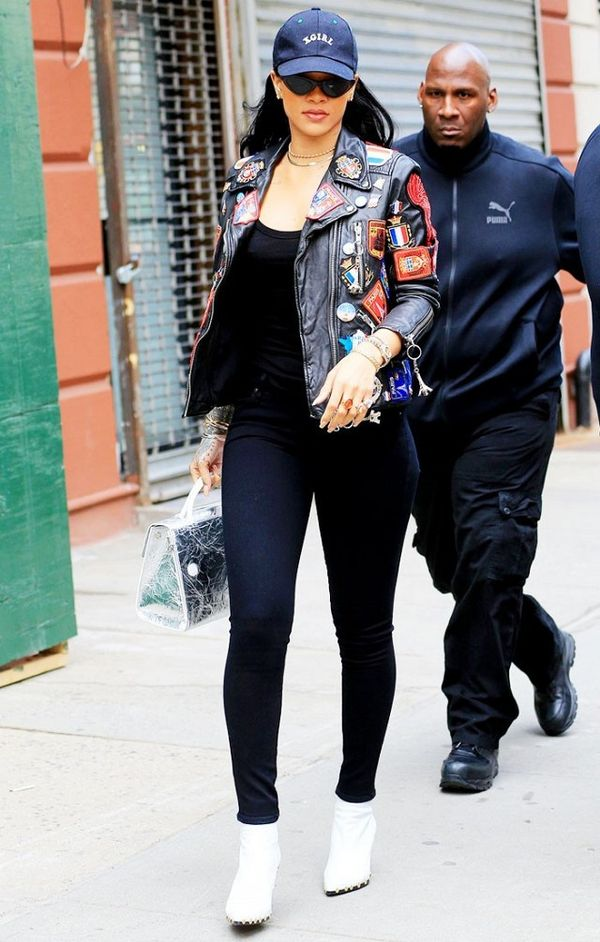 rihanna skinny jeans ankle boots