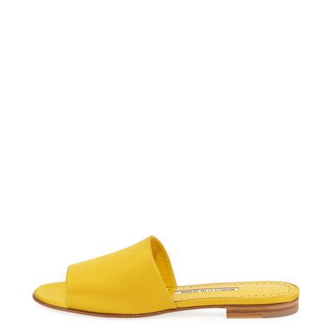 Rapalla Satin Flat Slide Sandal