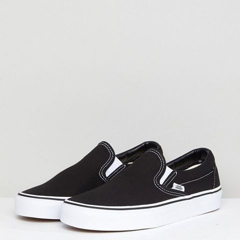 Classic Black Slip On Sneakers
