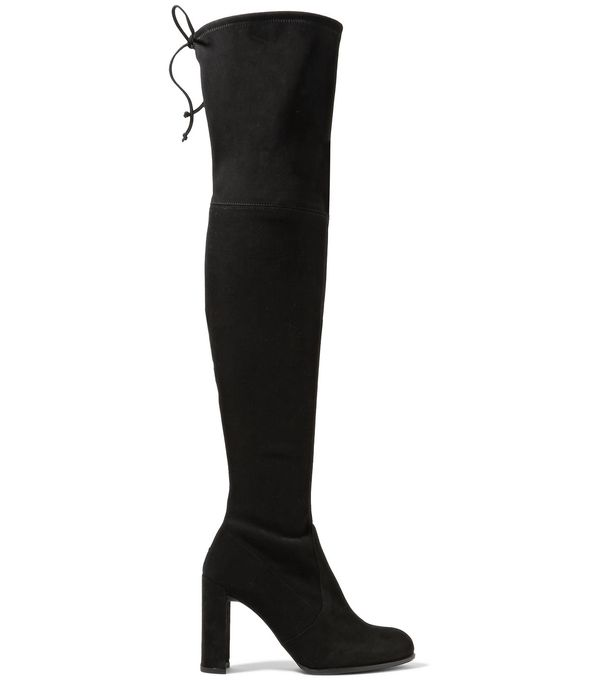 Hiline Stretch-suede Over-the-knee Boots