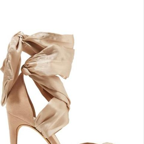 Katherine Lace-up Silk-Satin and Suede Sandals