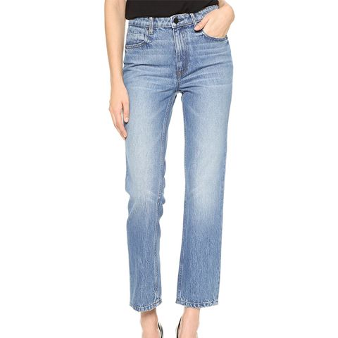 Cult Cropped Straight-Leg Jeans