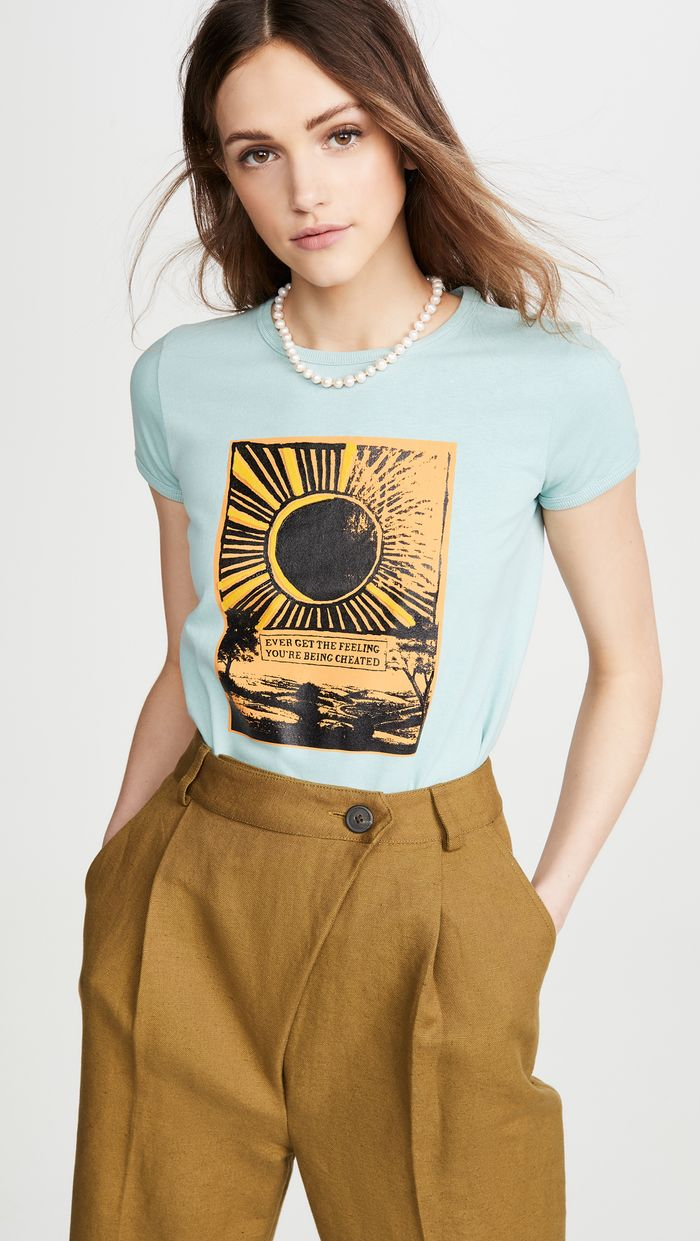Runway Marc Jacobs Crew Neck Cap Sleeve T-Shirt