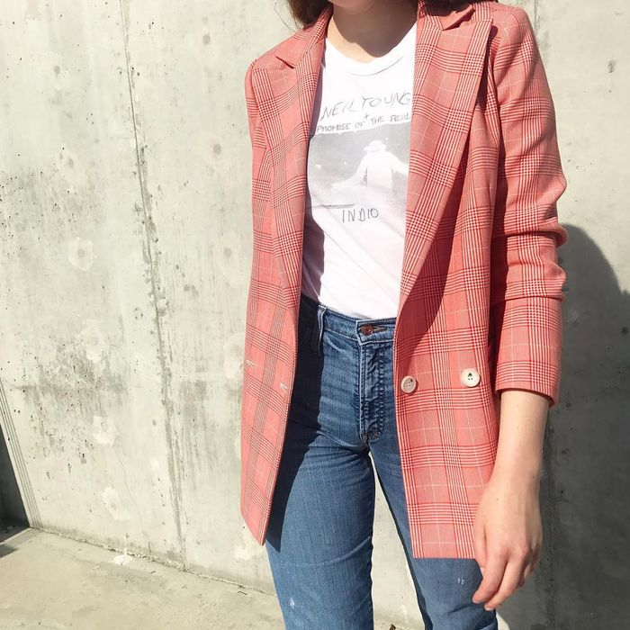 Erin Fitzpatrick, Fashion Editor, Wears a Ganni Blazer on Instagram