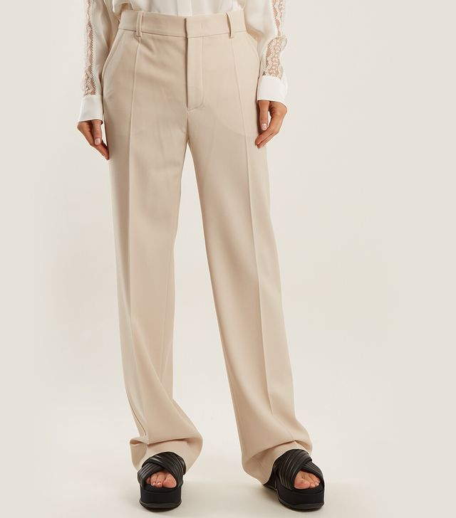 Joseph Ferdy Wide-Leg Wool-Blend Trousers