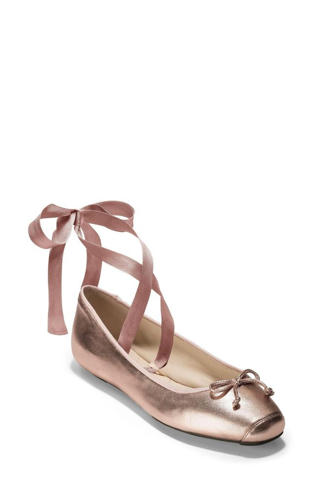 Cole Haan Downtown Ankle Wrap Ballet Flats
